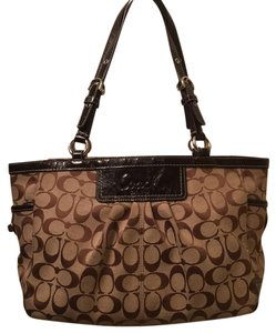 Coach Monogram Satchel Brown Satchel in Brown