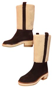 Chanel G30934 Espresso Choco Gold Riding Brown Boots