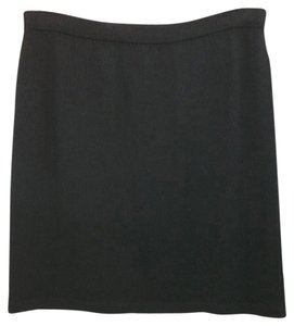 St. John Black Knit Pencil Skirt