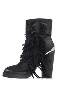Jeffrey Campbell Bandero Fringed Steel Toe Black Boots