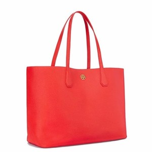 Tory Burch Tote in Poppy Red/ Pale Apricot