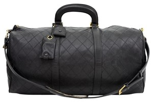 Chanel Duffle Vintage Travel Black Travel Bag