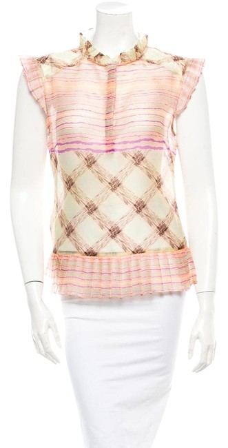 SUNO Pale Pink and Multicolor Blouse Size 4 (S) SUNO Pale Pink and Multicolor Blouse Size 4 (S) Image 1