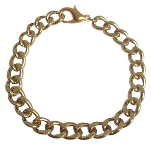 Elliot Francis Gold Steel Layering Chunky Bracelet