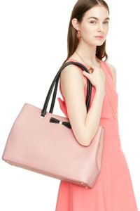 Kate Spade Henderson Street Maryanne Pink/Black Pebbled Leather Shoulder Bag