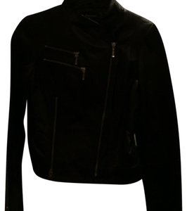 bebe Leather Zippers Moto Biker Motorcycle Jacket