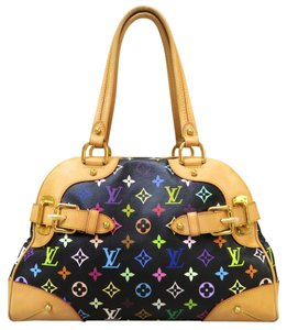 Louis Vuitton Lv Multicolore Claudia Tote in black multicolore