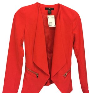 H&M Red orange Blazer
