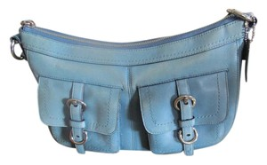 Coach Coach Blue Leather Satchel