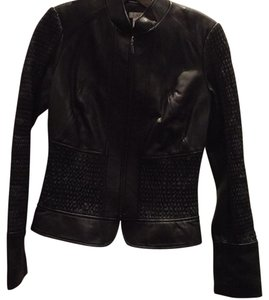Cache Leather Details New Leather Jacket