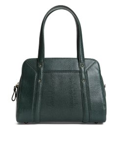 Brooks Brothers Leather Satchel in Dark Green