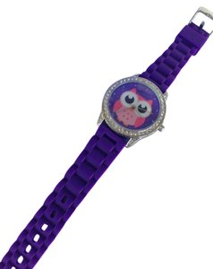Claire's NWT purple owl watch with crystals