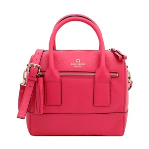 Kate Spade Leather Pebbled Satchel in Pink