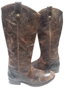 Frye Knee-high Buttons Distinguish Brown Glazed Distressed Boots
