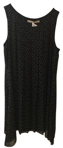 Max Studio short dress Black Polka Dot Pleated Flowy Hi Lo on Tradesy