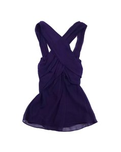 Diane von Furstenberg Purple Criss Cross Silk Top