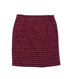 Tory Burch Maroon Gold Tweed Suit Skirt