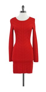 Torn by Ronny Kobo short dress Red Textured Knit Bodycon on Tradesy