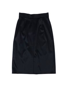Dolce&Gabbana Black Satin Finish Pencil Skirt