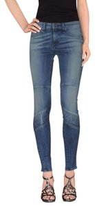 Rag & Bone Moto Skinny Jeans-Light Wash