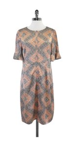 Nanette Lepore short dress Blue Coral Silk Front Zip on Tradesy