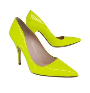 Kate Spade Neon Yellow Patent Leather Pumps