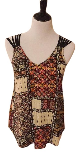 Item - Red/Black/Yellow Strappy Tank Top/Cami Size 4 (S)