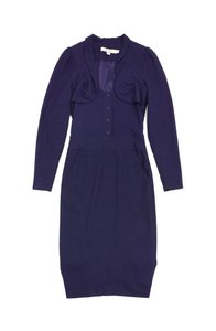 Reiss Eggplant Long Sleeve Dress