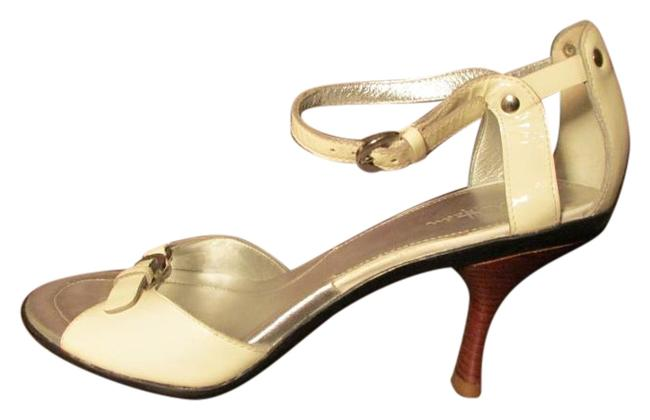 Item - Off White Patent Leather Ankle Strap Sandals Size US 9 Regular (M, B)
