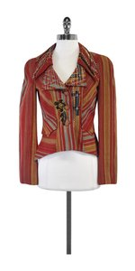 Christian Lacroix Rust Multi Color Embroidered Blazer