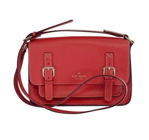 Kate Spade Red Leather Satchel Cross Body Bag