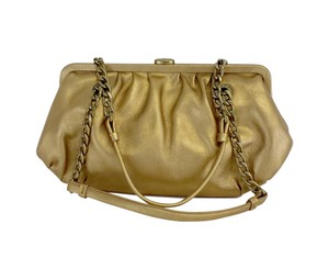 Michael Kors Gold Chain Strap Leather Hobo Bag