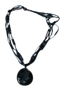 Silpada gray stone,bead and string