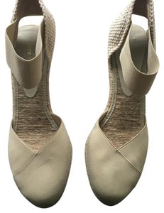 Andre Assous Beige Wedges