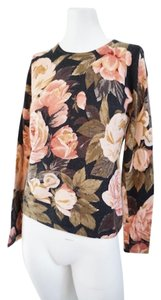 Collection 59 Cashmere Floral Cashmere Crewneck Cashmere Sweater