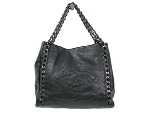 Chanel East West Tote in Black