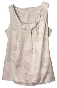 Banana Republic Top Ivory with taupe print
