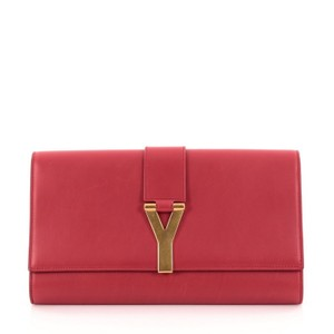 Saint Laurent Leather Clutch