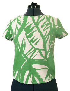 Lilly Pulitzer for Target Crop T Shirt Green white