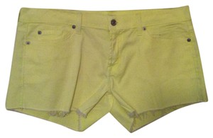 7 For All Mankind Mini/Short Shorts Yellow