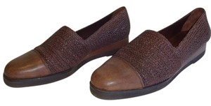 Cole Haan Woven Loafers Brown Platforms