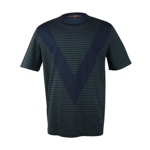 Louis Vuitton Men T Shirt Navy Green