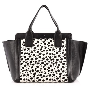 Chlo Chloe Leather Tote in Black and White