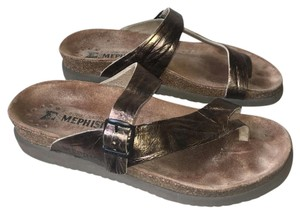 Mephisto Bronze Gold Sandals