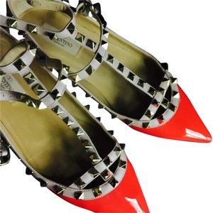Valentino Red/Nude Flats