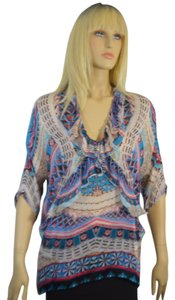 Roberto Cavalli Top BLUE MULTI COLOR
