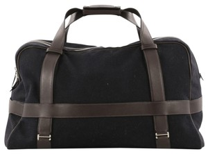 Herms Hermes Canvas Leather Tote