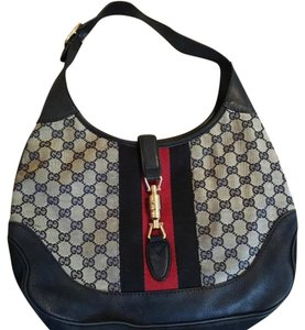 Gucci Tote in Red/ Blue/ Gray