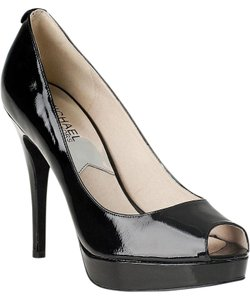 Michael Kors Leather Metallic Black Platforms