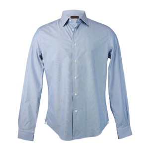 Louis Vuitton Men Button Down Shirt Blue